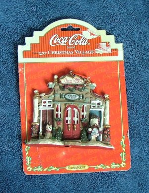 Coca Cola Christmas Village Firehouse Truck Depot Ornament 1998