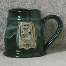 Forest Green Minnesota Renaissance Pottery Mug 2001 Live the Legend Dragon Knight