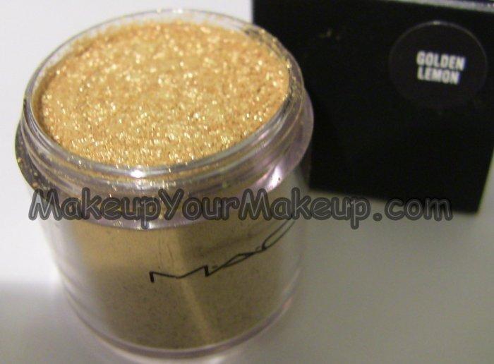 Golden Lemon MAC Pigment Sample