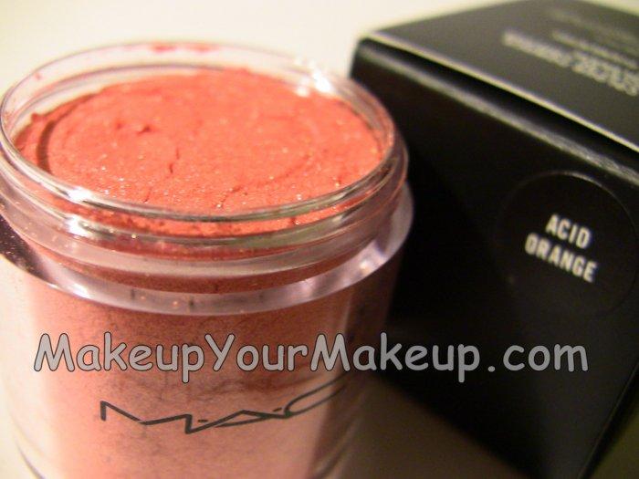 Acid Orange MAC Pigment Sample