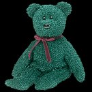 2001 Holiday bear,  Ty Beanie Baby - Retired