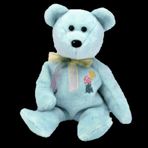 Ariel the bear,  Beanie Baby - Retired