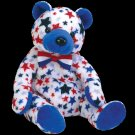 Blue the bear,  Beanie Baby - Retired