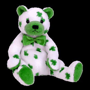 Clover the bear,  Beanie Baby - Retired