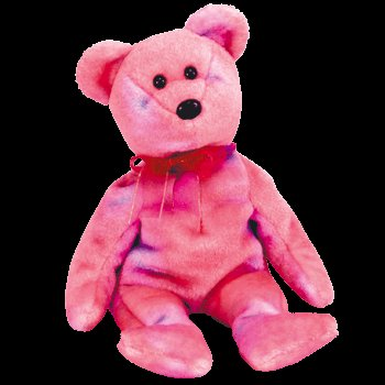 Clubby V the bear,  Beanie Baby - Retired