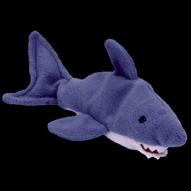 Crunch the shark,  Beanie Baby - Retired -