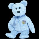 Decade the bear (blue),  Beanie Baby - Retired