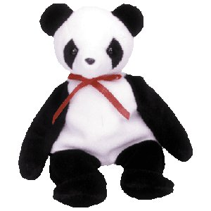 Fortune the panda,  Beanie Baby - Retired