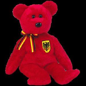 Graf von Rot the bear (German Exclusive),  Beanie Baby - Retired