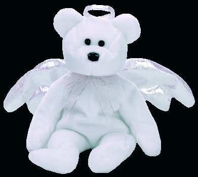 Halo the angel bear,  Beanie Baby - Retired