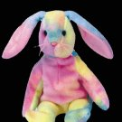 Hippie the ty-dye bunny,  Beanie Baby - Retired