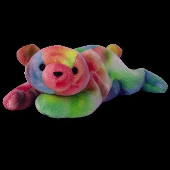 Sammy the ty-dye bear,  Beanie Baby - Retired