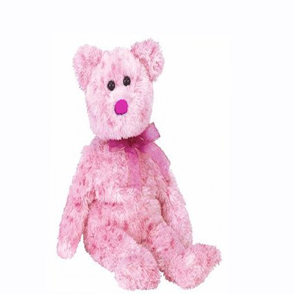 Smitten the bear (pink nose),  Beanie Baby - Retired