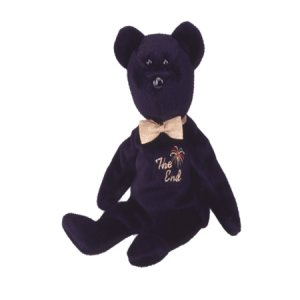 The End bear,  Beanie Baby - Retired