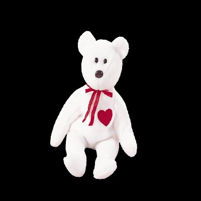 Valentino the bear,  Beanie Baby - Retired