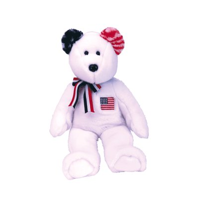 America White,  Beanie Buddy - Retired