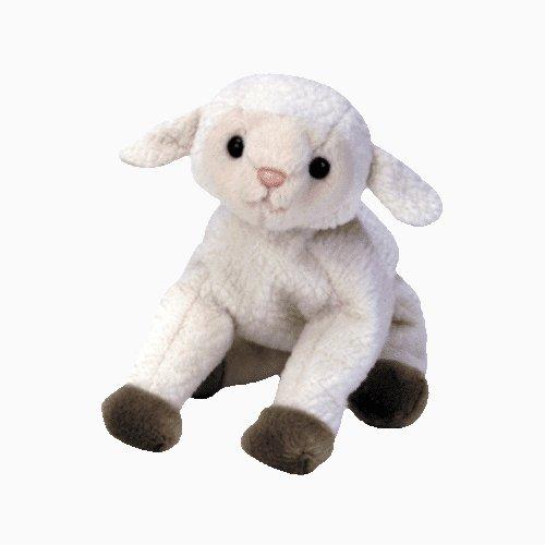 Ewey the lamb,  Beanie Baby - Retired