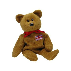 Britannia the bear (UK exclusive),  Beanie Baby - Retired