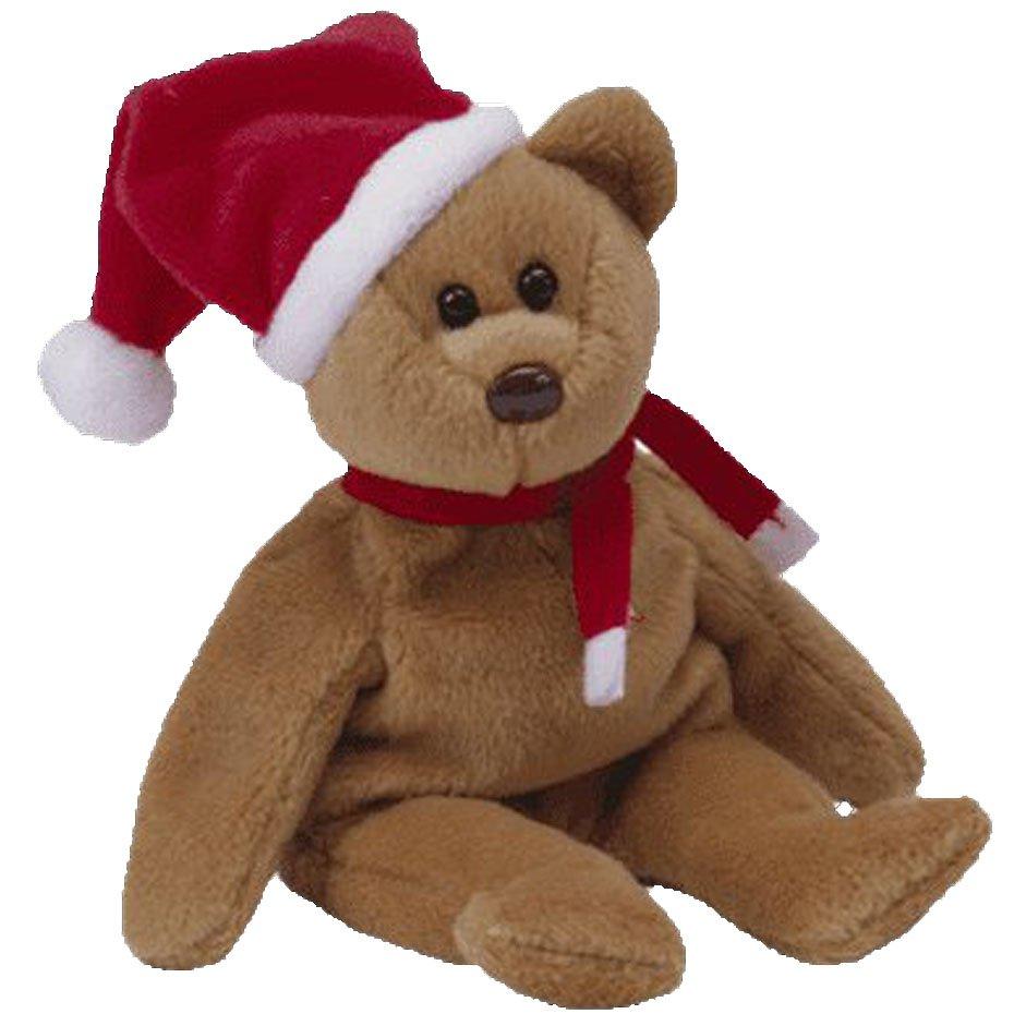 1997 Holiday Teddy,  Ty Beanie Buddy - Retired