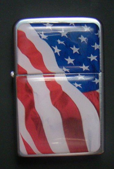 Amerikan lippu täytettävä sytkäri