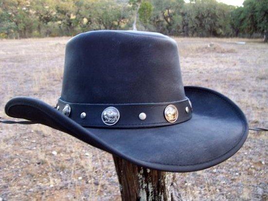 Buffalon nahka cowboy hattu Koko L