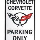 Corvette parking metallikyltti