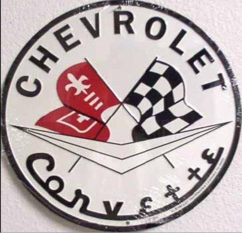 Chevrolet Corvette pyöreä metallikyltti