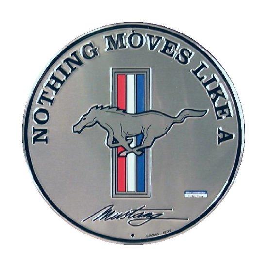 Mustang pyöreä metallikyltti