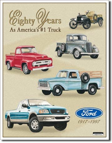 Ford Pick-ups 80-vuotiskyltti