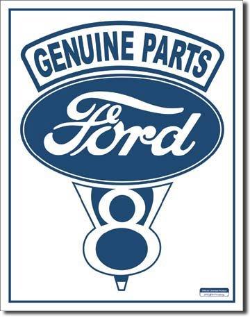 Aidot Ford osat metallikyltti