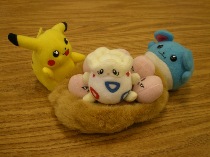 Pikachu/Marill/Togepi/Exeggcute Nest Plush