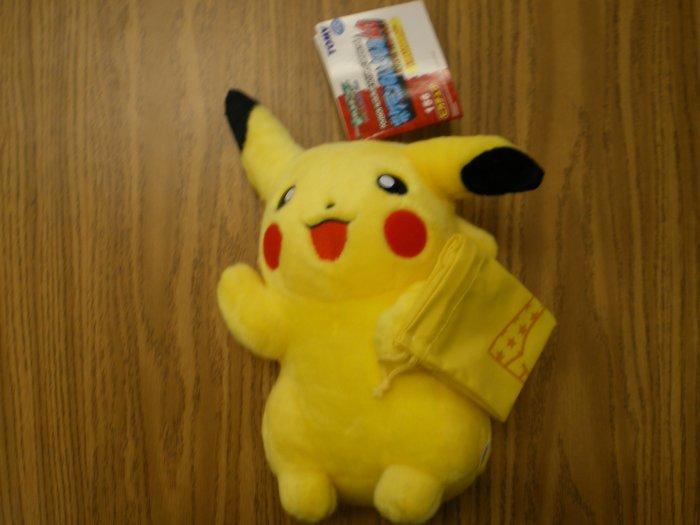 Large Pikachu Tomy Plush w/Cloth Bag