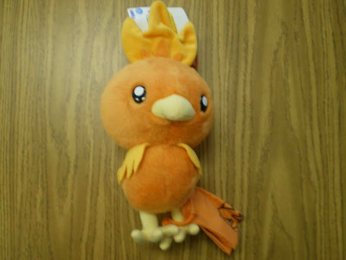 Large Pikachu Tomy Plush w/Cloth Bag