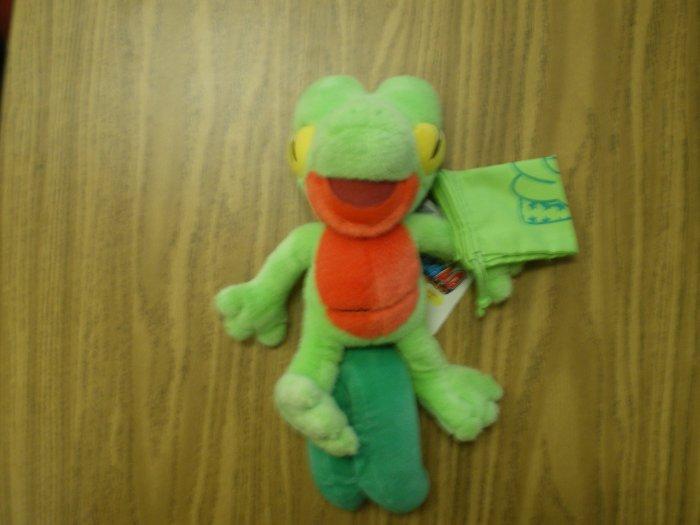 Large Treecko Tomy Plush w/Cloth Bag