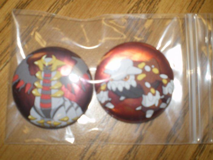 Giratina and Heatran Can Badge Set