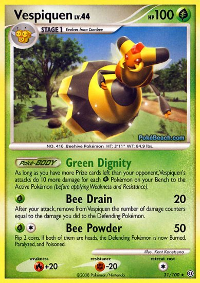 Reverse Holo Vespiquen Pokemon Stormfront 31/100