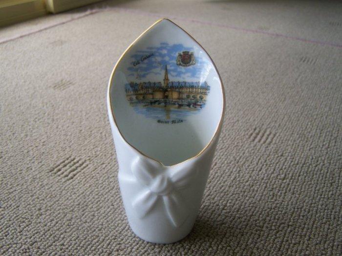 Vintage France Veritable Porcelaine Saintt Malo  Vase.