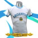 ARGENTINA WHITE SOCCER TEE T-SHIRT FOOTBALL RETRO Size M / B10