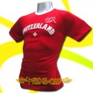 SWITZERLAND RED FOOTBALL T-SHIRT SOCCER Size M / L95