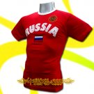RUSSIA RED ATHLETIC FOOTBALL T-SHIRT SOCCER Size L / L83