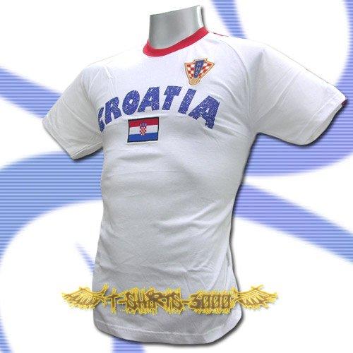 CROATIA WHITE COOL FOOTBALL T-SHIRT SOCCER Size M / L59