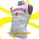 SPAIN WHITE ESPANA COOL SLEEVELESS T-SHIRT SOCCER Size M / L00