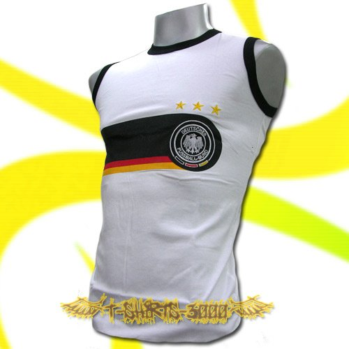GERMANY WHITE GERMAN SLEEVELESS COOL T-SHIRT SOCCER Size M / L24