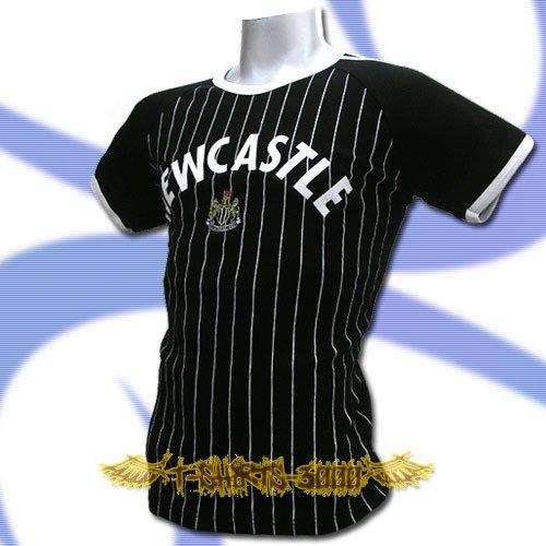 NEWCASTLE BLACK FOOTBALL COOL TEE T-SHIRT SOCCER Size M / L50