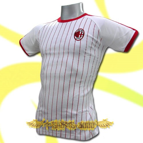 AC MILAN WHITE ATHLETIC FOOTBALL TEE T-SHIRT SOCCER Size M / L53