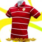 ARSENAL RED/WHITE FOOTBALL COOL POLO T-SHIRT SOCCER Size M / i10