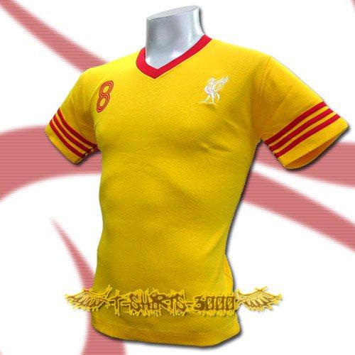 LIVERPOOL YELLOW #8 FOOTBALL V NECK T-SHIRT SOCCER Size M / J70