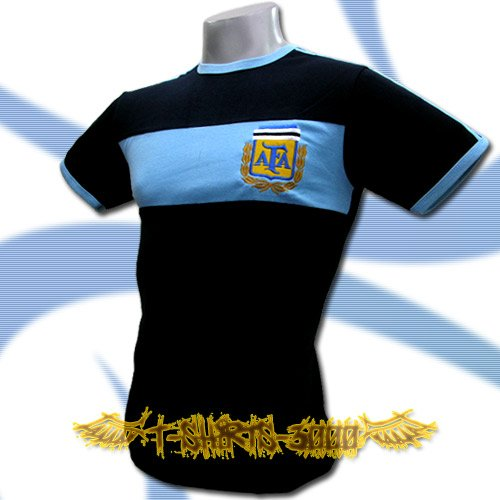 ARGENTINA DARK BLUE FOOTBALL COOL T-SHIRT SOCCER Size M / K12