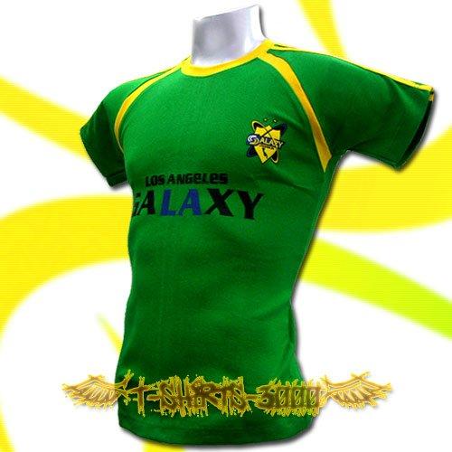 LA GALAXY GREEN FOOTBALL ATHLETIC T-SHIRT SOCCER Size M / K14