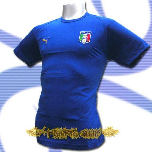 ITALY BLUE ITALIA FOOTBALL COOL T-SHIRT SOCCER Size L / M15